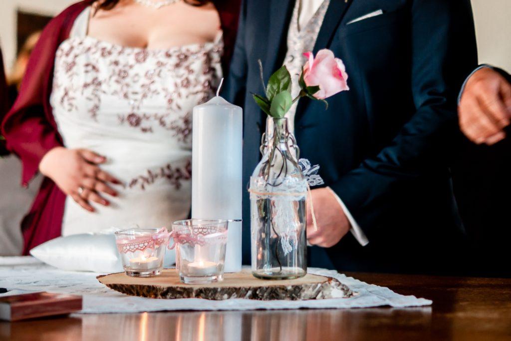 Dekoration / Hochzeitskerze