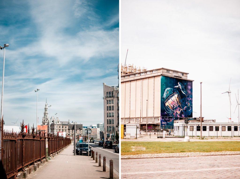 Graffiti / Weg zum Museum an der Schelde