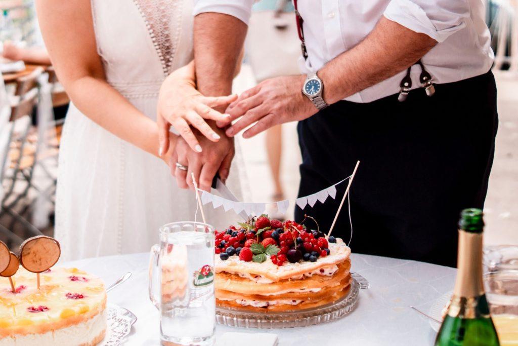 Kuchenanschnitt